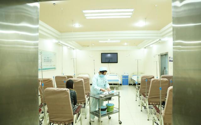 北京军颐中医医院输液室